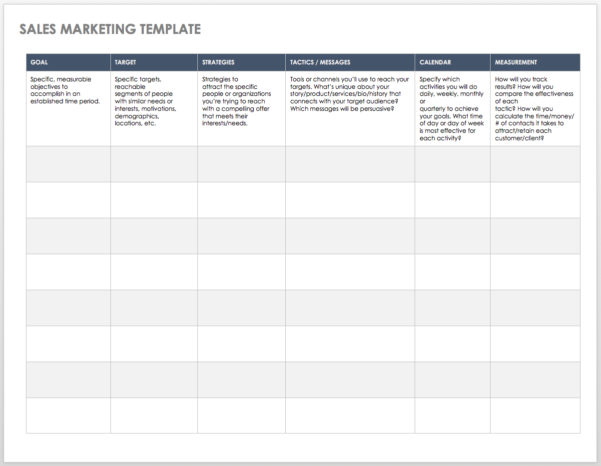Free Sales Pipeline Templates | Smartsheet And Sales Call Tracking Spreadsheet
