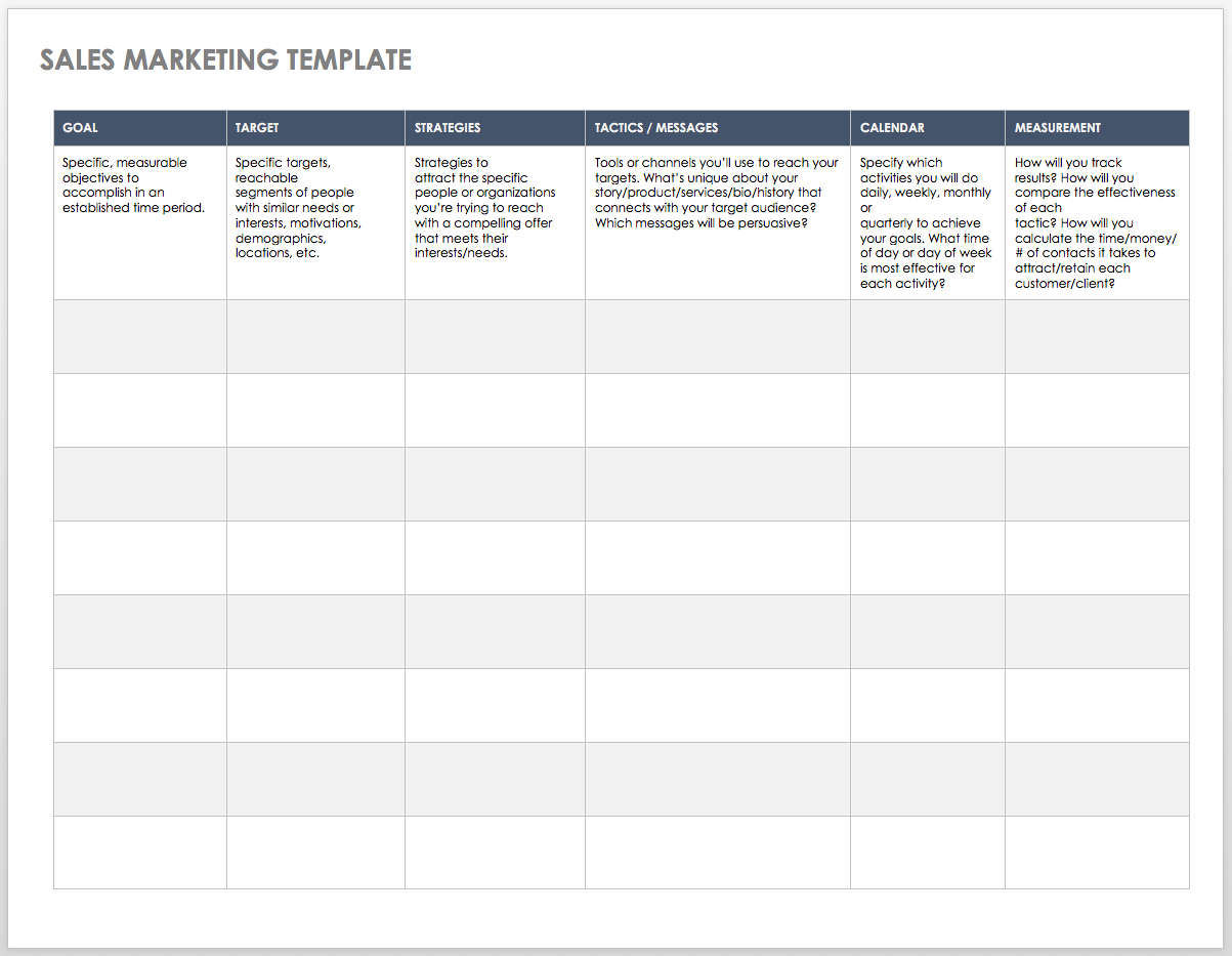 Free Sales Pipeline Templates | Smartsheet With Sales Team Tracking Spreadsheet