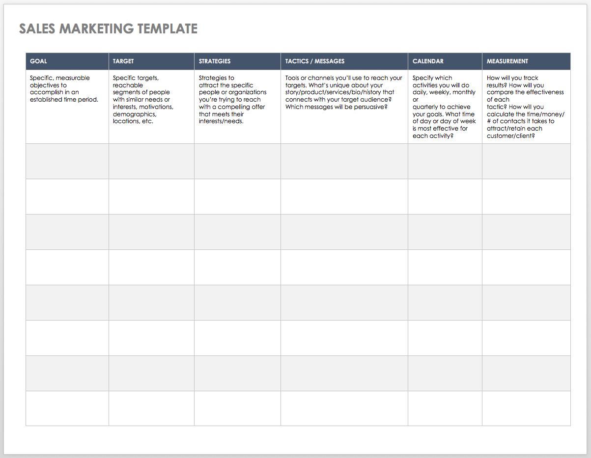 Free Sales Pipeline Templates | Smartsheet Within Free Sales Tracking Spreadsheet Template