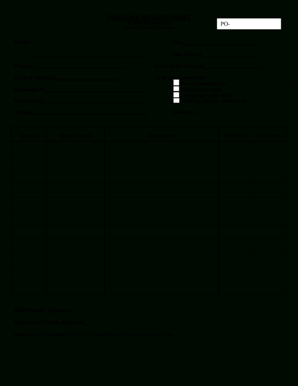 Free Sheet For Purchase Request Order | Templates At Inside Purchase Order Spreadsheet