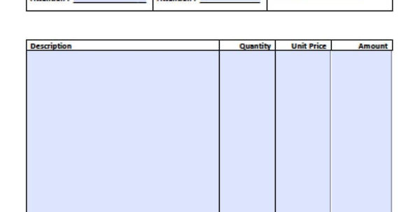 Free Simple Basic Invoice Template | Excel | Pdf | Word (.doc) With Invoice Template Word Doc