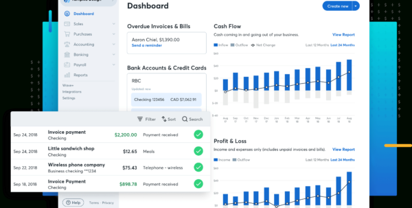 Free Small Business Accounting Software—Wave Within Business Expense Tracking Software