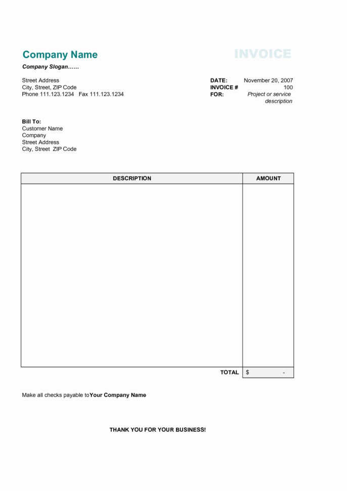 Free Standard Invoice Template Free Invoice Templates For Word Excel With Open Office Invoice Templates