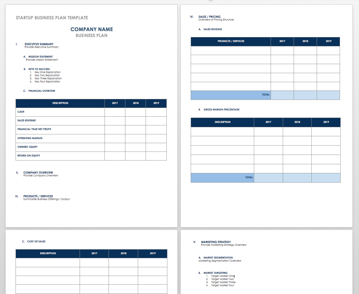 Free Startup Plan, Budget & Cost Templates | Smartsheet With Sales Forecast Template For Startup Business