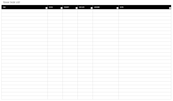 Free Task And Checklist Templates   Smartsheet Inside Tracking Employee Time Off Excel Template