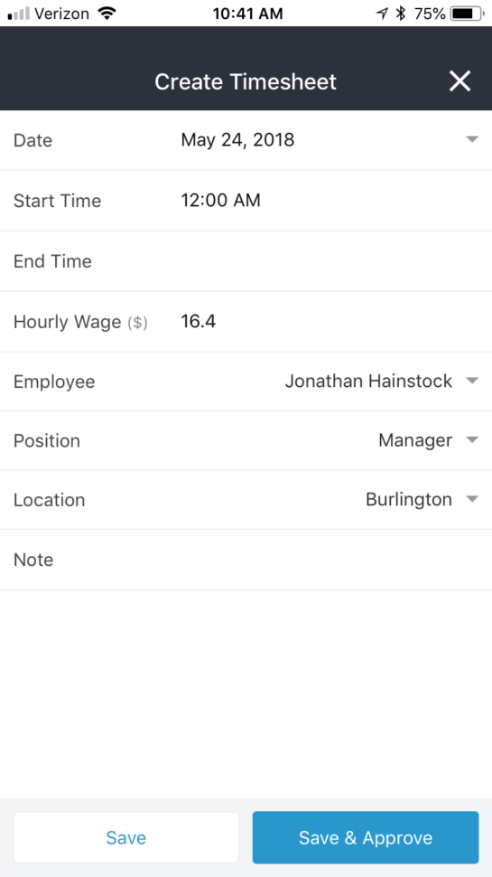 Free Timesheet App   Zoomshift Throughout Timesheet Clock