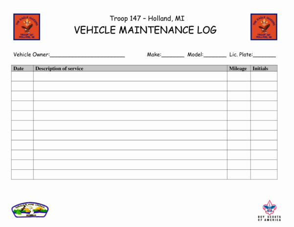 Free Vehicle Maintenance Log Template Best Of Preventive Maintenance With Truck Maintenance Spreadsheet