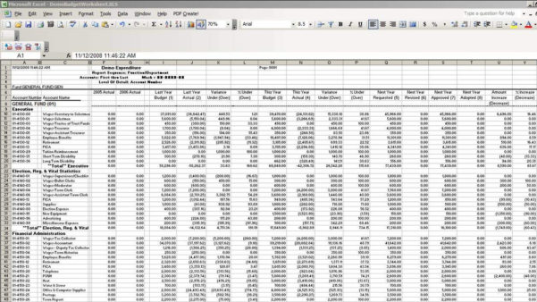 Fund Accounting & Budget Preparation Software | Bmsi Within Accounting Spreadsheet Software