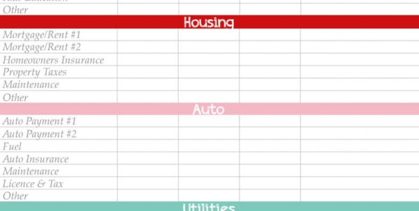 Getformtemplates Monthly Budget Worksheet Sample Of Free Budget In Free Home Budget Spreadsheet