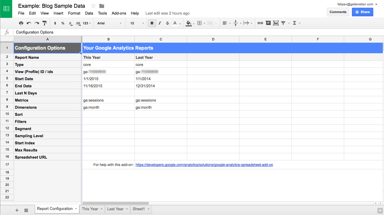 Google Analytics And Google Spreadsheets: Create Your Own Dashboard Within Create Your Own Spreadsheet