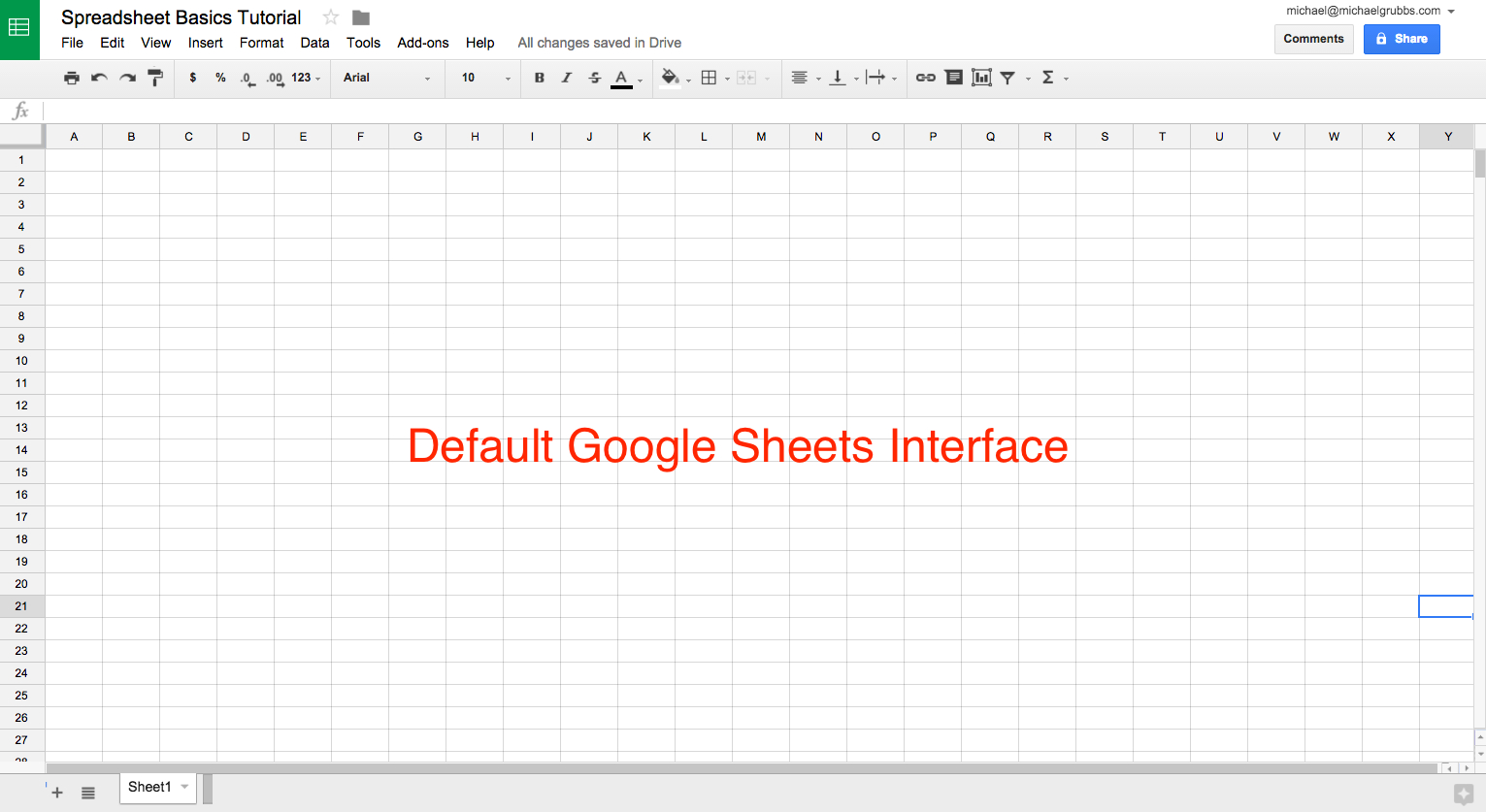 Google Sheets 101: The Beginner's Guide To Online Spreadsheets - The inside Blank Spreadsheets