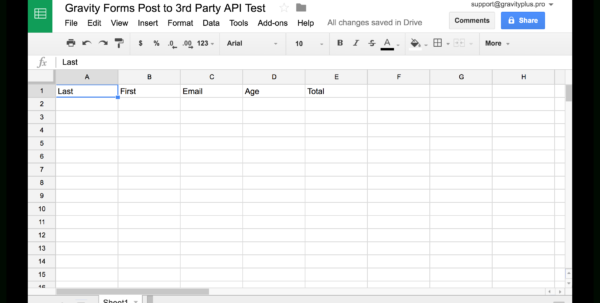 Gravity Forms To Google Sheets  @gravityplus Within Spreadsheet Forms