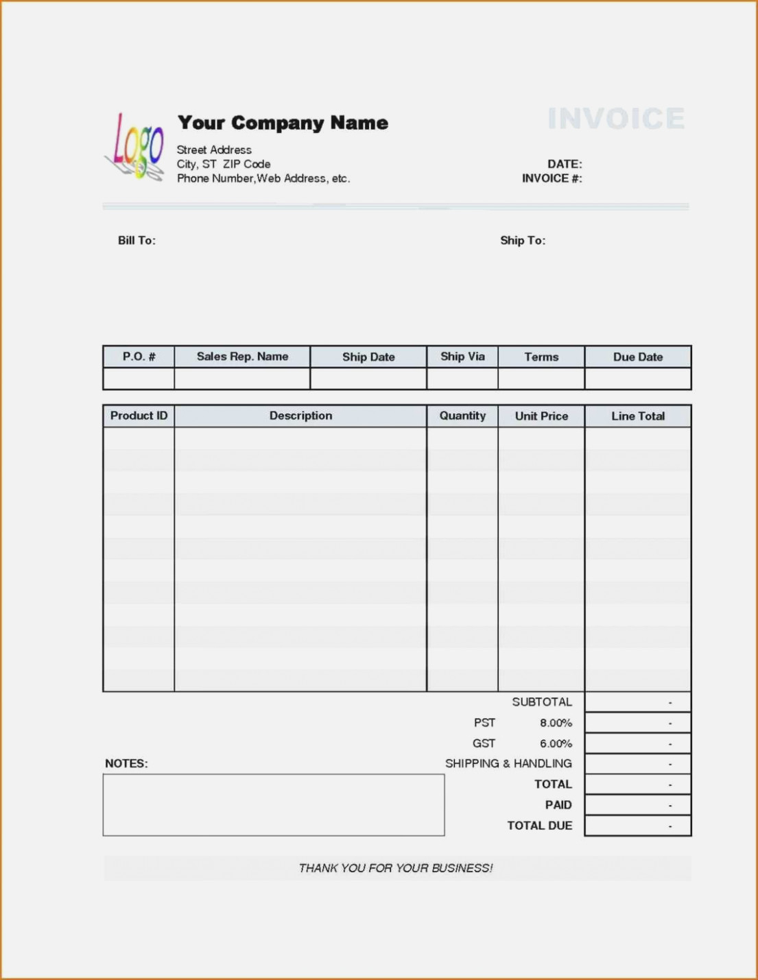 Handyman Invoice Template With Invoice Signature Awesome Free Intended For Handyman Invoice
