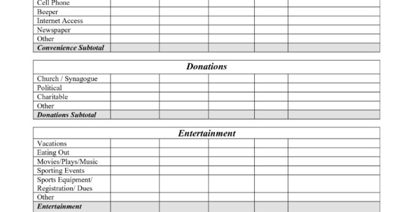 Home Budget Spreadsheet Ideas Best Free Printable Monthly Bud With Home Budget Spreadsheet Free