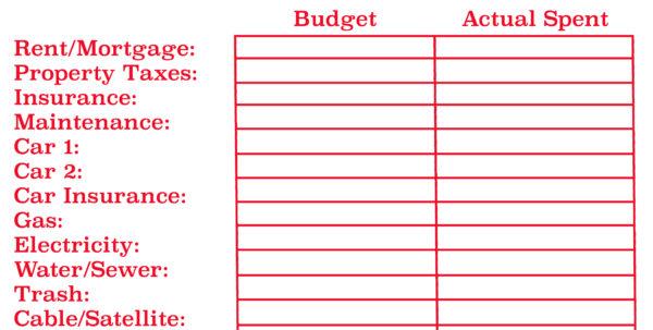 Home Budget Spreadsheet   Resourcesaver Inside Home Budget Spreadsheet Free
