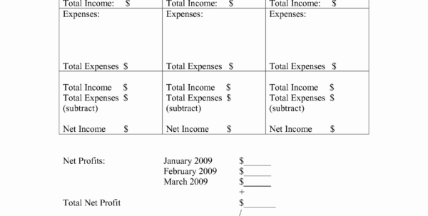 Home Business Accounting Spreadsheet New Free Printable Profit And Intended For Free Business Accounting Forms