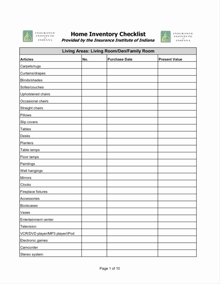 Home Inventory List Template Excel Bar Inventory Sheet ...