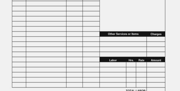 Hoover Receipts | Free Printable Service Invoice Template – Pdf With Job Invoice Template