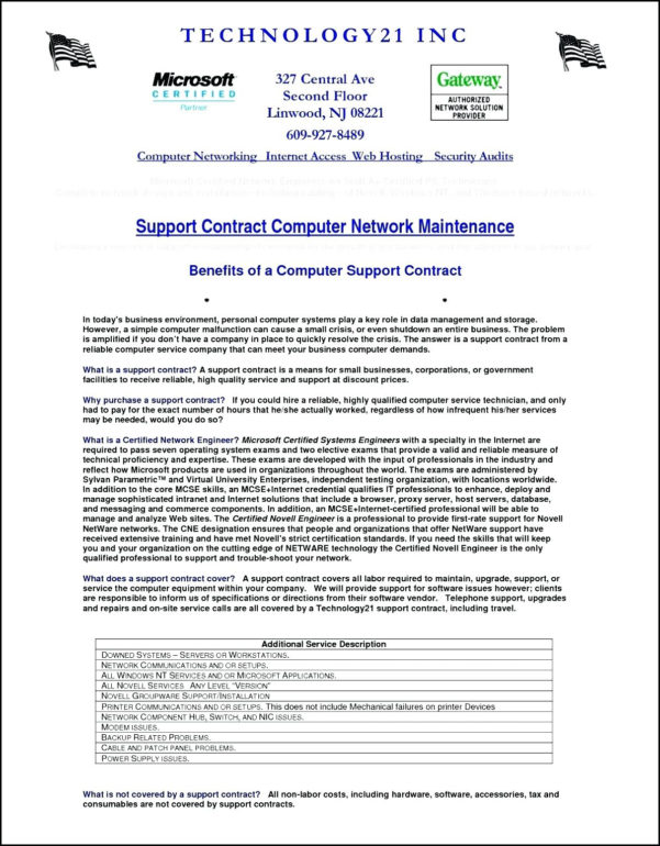 Hosting Service Agreement Template Unique Template Security Company With Business Contract Software