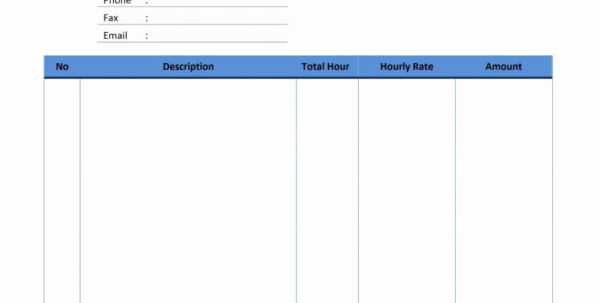 Hourly Invoice Template Excel Free Hourly Invoice Template Excel Pdf In Hourly Invoice Template