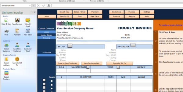 Hourly Invoice Template Intended For Hourly Invoice Template