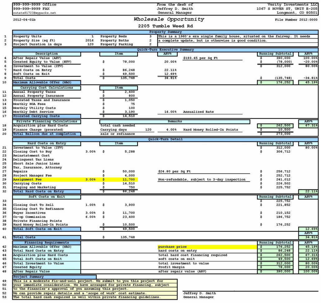 House Flipping Excel Template New 15 Inspirational House Flipping With House Flipping Spreadsheet