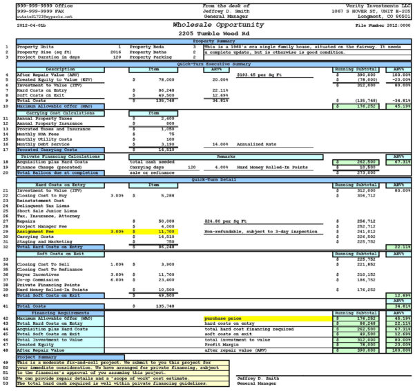 House Flipping Spreadsheet Template | My Spreadsheet Templates To Property Flipping Spreadsheet