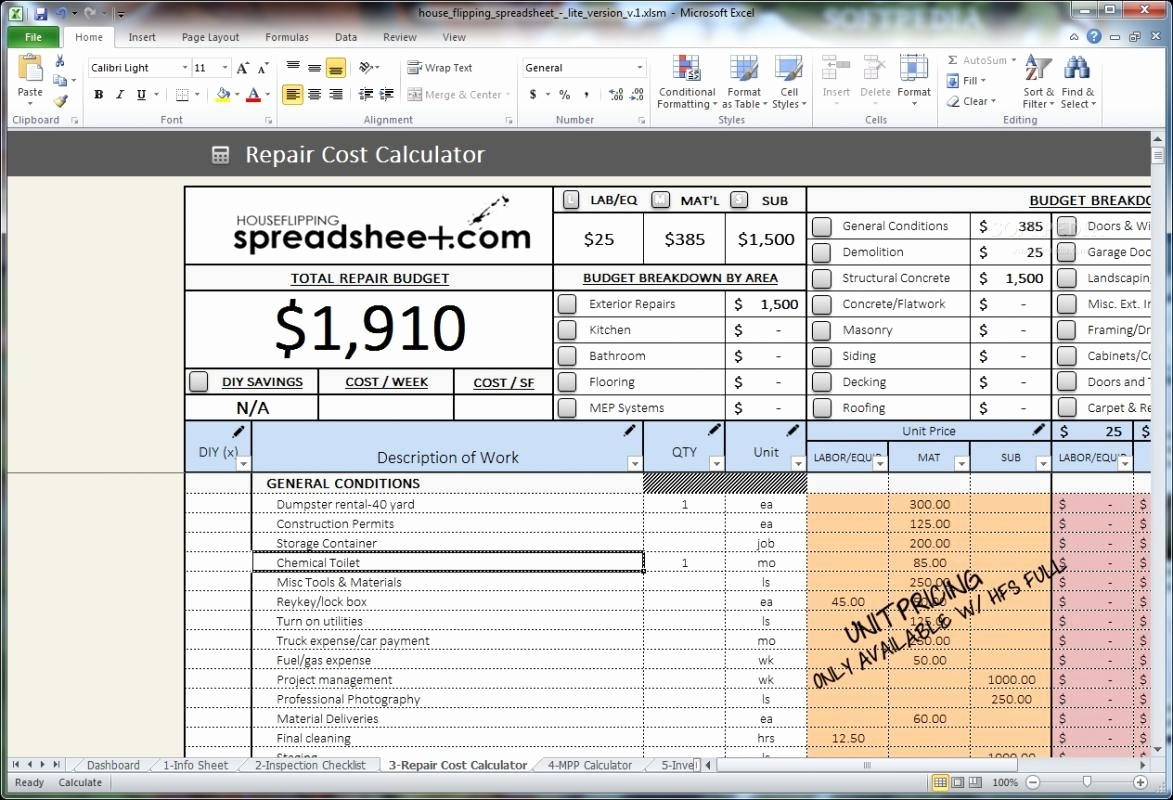 House Flipping Spreadsheet Xls On Inventory Spreadsheet Calendar In House Flipping Spreadsheet