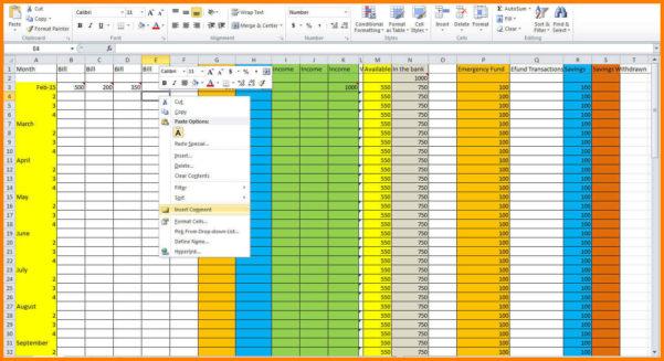 Household Budget Spreadshet How Toe Home Spreadsheet Make And How To Make A Household Budget Spreadsheet