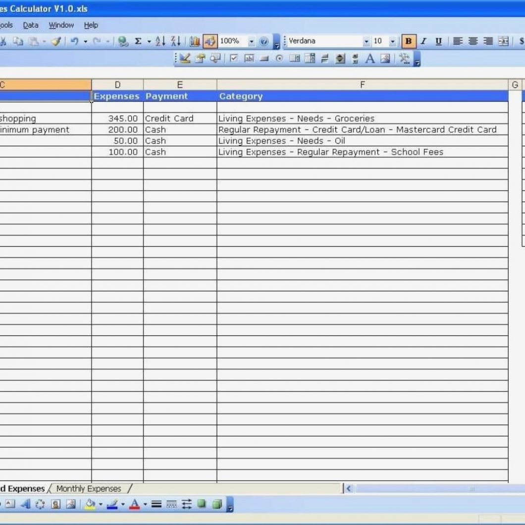 Household Expenses Excel Template Templates With Regard Income To Income Tracking Spreadsheet