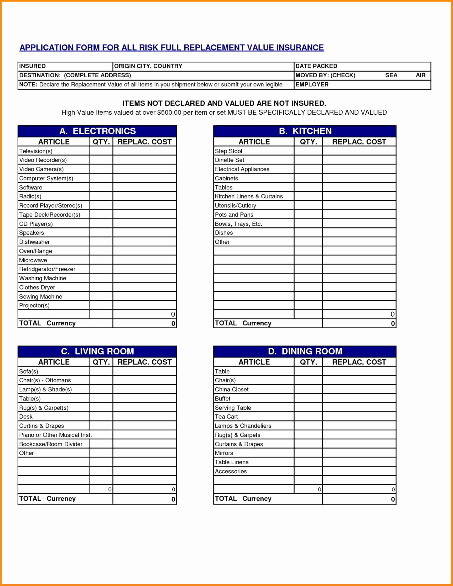 Housekeeping Linen Inventory Template Fresh Furniture Inventory Inside Furniture Inventory Spreadsheet