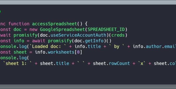 How To Access Google Spreadsheets With Node | Cmichel Throughout Node Js Spreadsheet