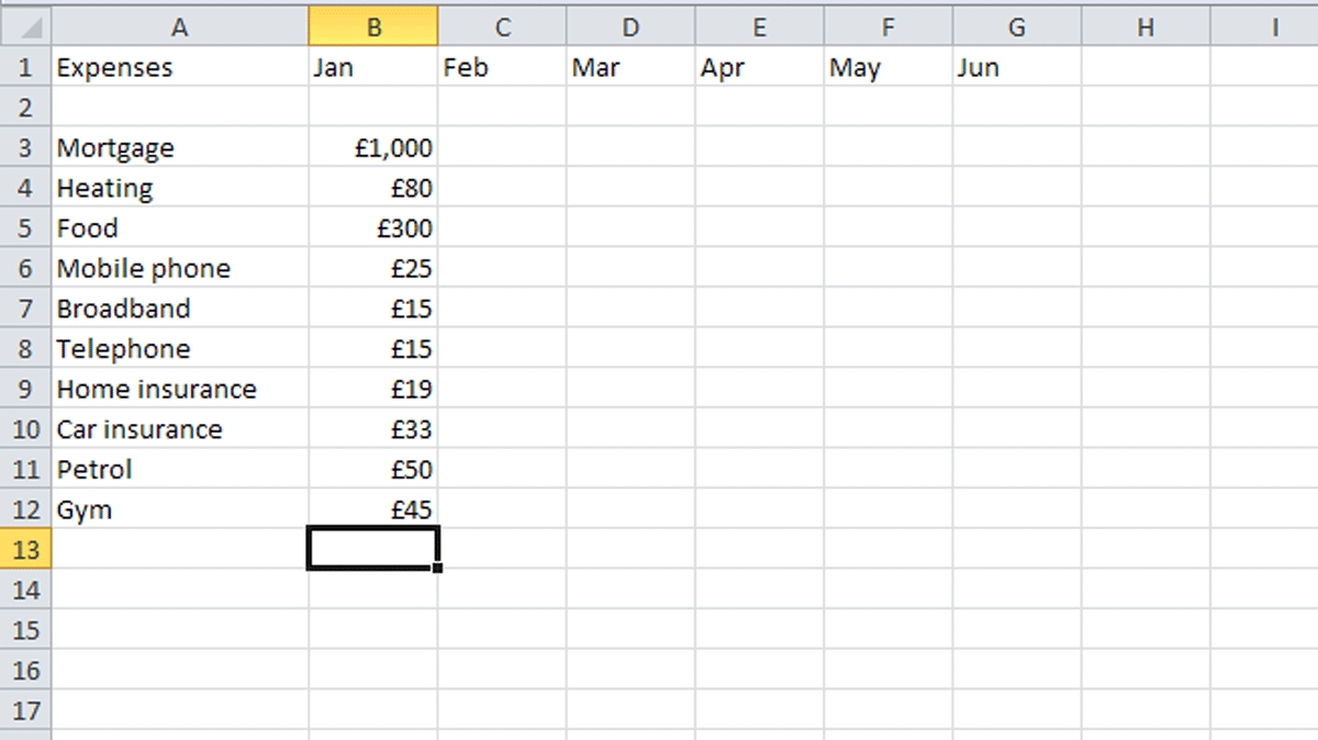 How To Budget Your Money In Excel Tech Advisor In Manage My Bills Within Manage My Bills Spreadsheet