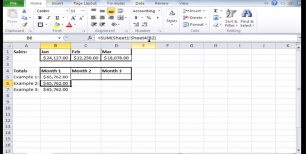 How To Create 3D Formulas In Microsoft Excel 2010   Teachucomp, Inc. To Basic Accounting Excel Formulas