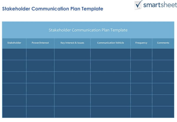 How To Create A Stakeholder Management Plan Smartsheet For In Businessballs Project Management Templates
