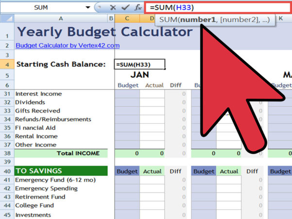 How To Create An Excel Financial Calculator: 8 Steps With Online Budget Calculator Spreadsheet