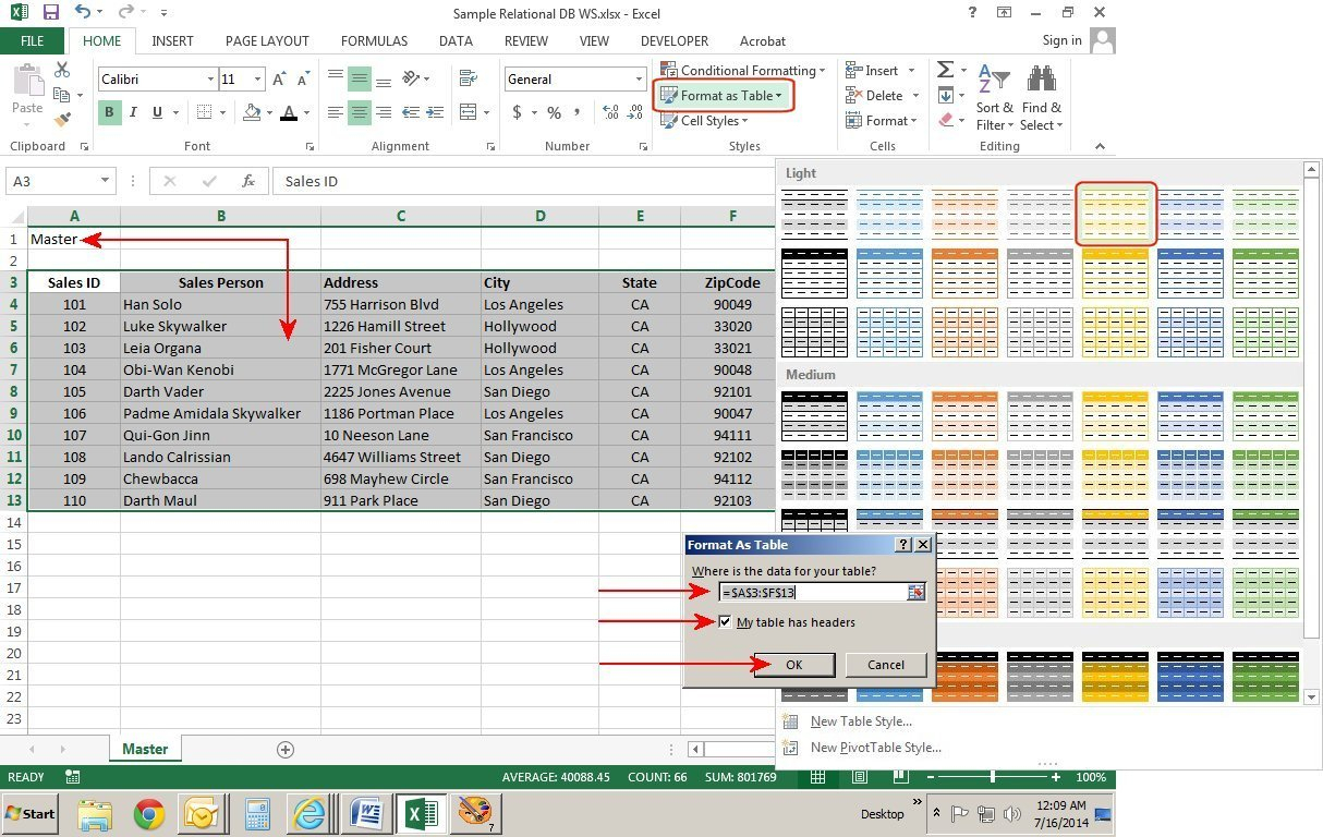 How To Create Relational Databases In Excel 2013 | Pcworld With How Do You Create A Spreadsheet