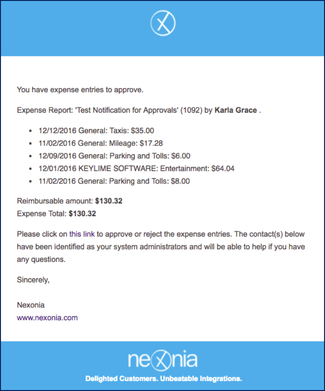 How To Enable Email Notifications For Expense Approval – Nexonia Inside Company Expense Report