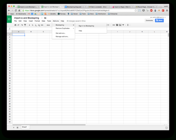 How To Get Live Web Data Into A Spreadsheet Without Ever Leaving And Web Spreadsheet