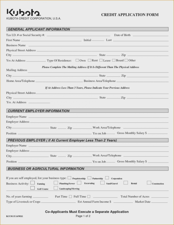 How To Have A Fantastic Business Credit | Form Information To Business Applications Template