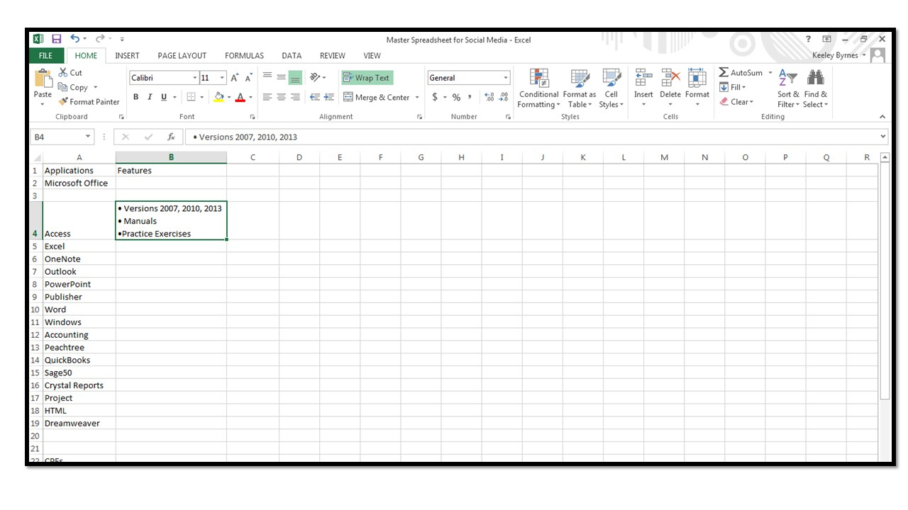 How To Insert Bullets In Excel - Microsoft Office Training With How Do You Do Spreadsheets