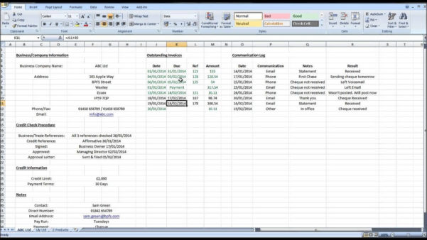 How To Maintain Accounts In Excel Accounts Receivable Excel In Excel With Free Excel Templates For Accounting Download
