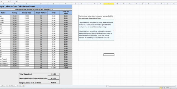 How To Make A Cost Analysis Spreadsheet | Worksheet & Spreadsheet In Food Cost Analysis Spreadsheet