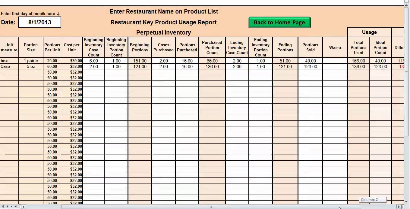 How To Make A Spreadsheet For Inventory As Debt Snowball Spreadsheet In Restaurant Inventory Spreadsheet Download