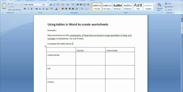 How To Make A Spreadsheet In Word On Spreadsheet Templates How To Do Inside Word Spreadsheet