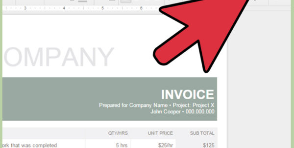 How To Make An Invoice In Google Docs: 8 Steps (With Pictures) In Invoice Template Google Docs Invoice Template Google Docs Expense Spreadsheet