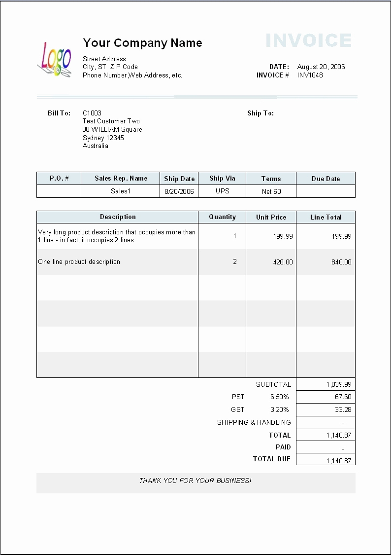 How To Make An Invoice In Wordpad Payment Invoice Template Invoice In Payment Invoice Template