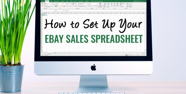 How To Set Up Your Ebay Sales Spreadsheet | Inexpensive Ebay Sales Throughout How To Create A Sales Tracking Spreadsheet