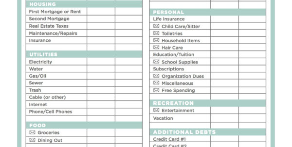 How To Start A Budget Spreadsheet   Daykem Throughout How To Start A Spreadsheet