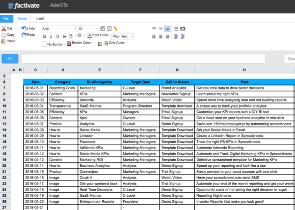How To Track Linkedin Ads Kpis In A Spreadsheet For Digital Marketers Throughout Social Media Tracking Spreadsheet
